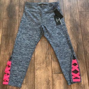 Express Core S Grey Athletic Capri Pants